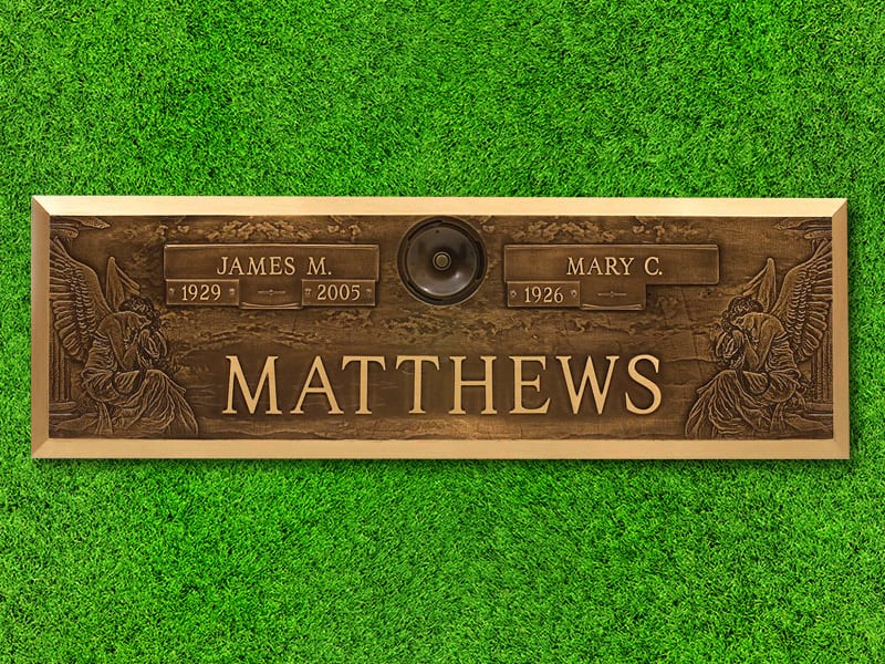 "Lasting Memories™ by Matthews Cemetery Products | Angelic Design | 44"" x 14"""