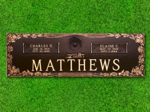 "Crowncrest by Matthews Cemetery Products | Dogwood Design | 44"" x 14"""