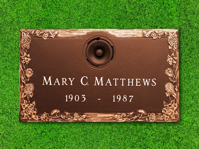 "Crowncrest by Matthews Cemetery Products | Floral Design | 24"" x 14"""