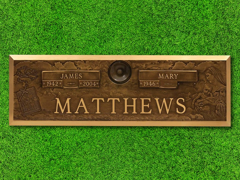 "Lasting Memories™ by Matthews Cemetery Products | Rosary Design | 44"" x 14"""