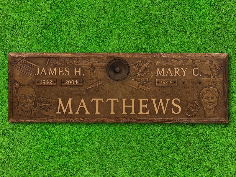 "Lasting Memories™ by Matthews Cemetery Products | Custom Montage | 44"" x 14"""
