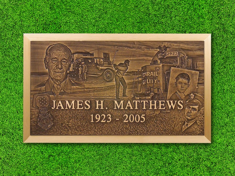 "Lasting Memories™ by Matthews Cemetery Products | Custom Montage | 24"" x 14"""