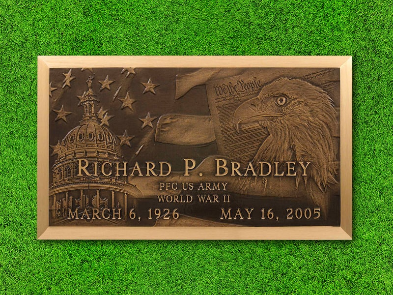 "Lasting Memories™ by Matthews Cemetery Products | Patriotic Design | 24"" x 14"""