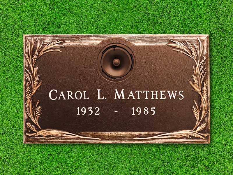 "Crowncrest by Matthews Cemetery Products | Pine Design | 24"" x 14"""