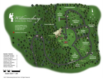 Williamsburg Memorial Park Cemetery Map